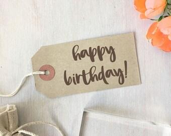 Happy Birthday Stamp | Brush Calligraphy - Sentiment Stamp - Birthday Wishes - It's Your Birthday - Gift for Crafter