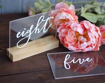 Custom Acrylic Table Numbers, wedding or event
