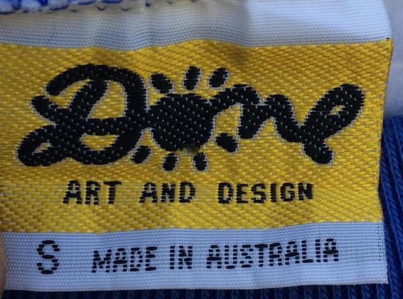 Australian Australia Sweatshirt Art full Pop Neck KEN Down DONE Under Vintage Crew print Rare blue 90's Designer Pullover qap7IY