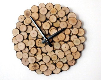 Rustic Wood Decor, Custom Father's Day Wall Clock, Large Wall Clock, Wooden Wall Clock