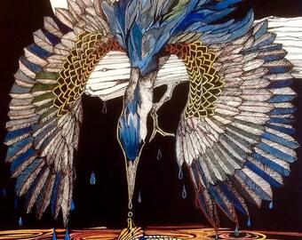 Kingfisher and Koi