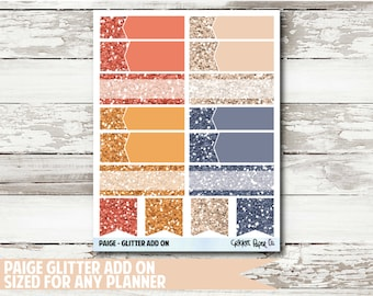 Paige Glitter Functional Planner Stickers