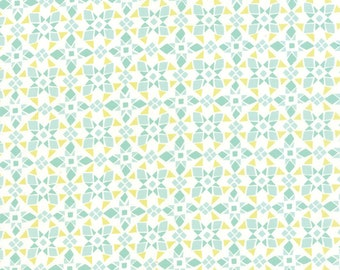 Canyon Fabric by the yard, Kate Spain Fabric, Moda Fabrics, Geometric Quilt Fabric, Canyon Four Corners Agave Verde, Cotton Fabric, 27229 11