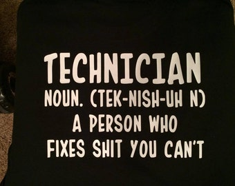 Personalized technician shirt