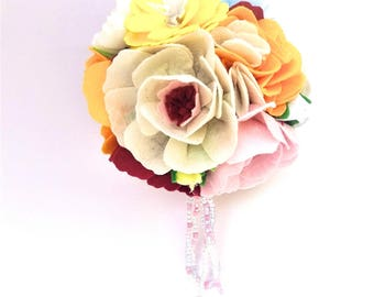 Holiday gift floral hanging decor Wedding party decor Wedding flowers ball Pomander bouquet Bridesmaid kissing ball  Flower girl bouquet