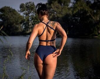Women's Shorts - Twerk High / High waisted / Dark blue or Burgundy / Pole Dance / Twerk / Dance / Booty / Sportswear / Activewear / Outfit