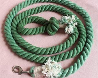Forest Green Rope Leash