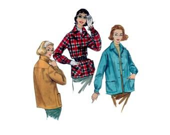 60s Car Coat pattern Jacket pattern vintage 34-26-36 bust 36 madmen Pockets Barn Coat pattern simplicity 2273
