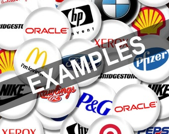 50 Corporate Buttons - Personalized promote your business - Wholesale Pricing