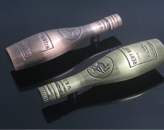 """2 1/2"""" Kitchen Bar Cabinet Handles Pulls Knobs Wine Bottle Antique Bronze / 2.5 Unique Drawer Pull Handles Knob Decorative Hardware 64mm"""
