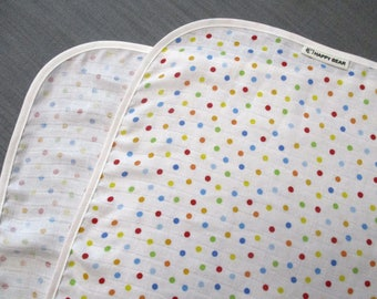 Lightweight Baby Blanket, Extra large blanket, Double Gauze, Muslin, Swaddle Blanket, Receiving Blanket, Color Dots, Cotton