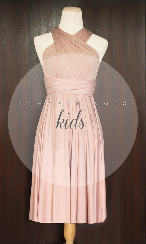 Dark dusty pink infinity dress, dark dusty rose Bridesmaid