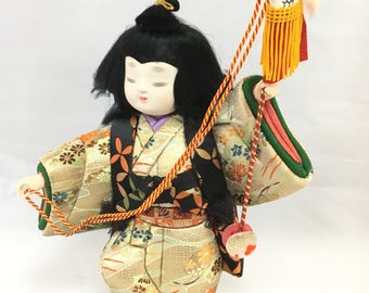 Kimekomi, Kimekomi Doll, Wooden Doll, Kawaii Japanese Doll, Antique Japanese Doll, Antique Doll, Japanese Doll, Asian Decor, Kawaii Doll