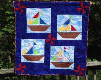 Bright and Beautiful Sailboat Wall Hanging