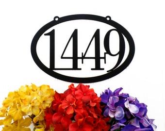 Custom Outdoor House Number Metal Sign - 4 Digit, Black, 12x8, House Number, House Address, House Sign, Outdoor Sign