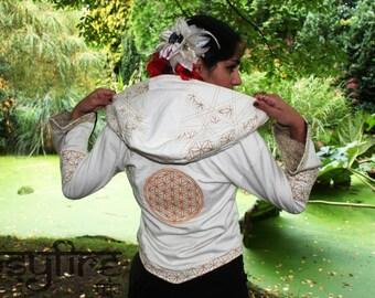 FLOWER OF LIFE Jacket - Flower of Life Hoodie, Festival Hoodie, Hippie Hoodie, Festival Clothing, Psytrance Jacket, Psy Hoodie, Hippie Coat