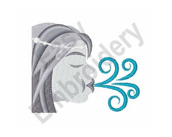 Blowing Wind - Machine Embroidery Design