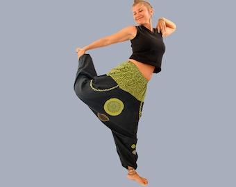 Boho Harem Pants - Women's Aladdin Trousers - Afghani Pants - Alibaba Pants - 100% Cotton