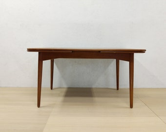 Vintage Danish Modern Teak Dining Table by Omann Jun - Free NYC Delivery!