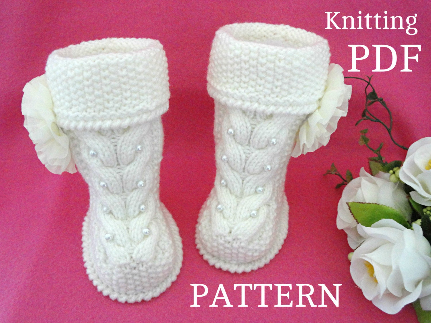 Knitting Pattern Baby Booties Baby Shoes Baby Uggs Knit Baby