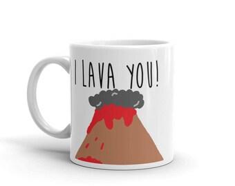 I Lava You - Cute Volcano Mug Gift by Fruitfulfeet