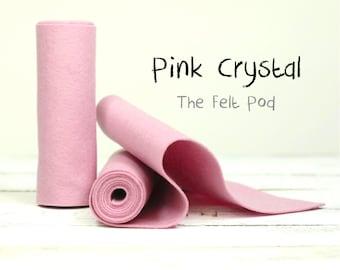 """100 Percent Wool Felt Roll - Wool Felt color PINK CRYSTAL - 5"""" X 36"""" Wool Felt - Pink Wool Felt"""