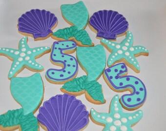 mermaid cookies or unther the sea cookies