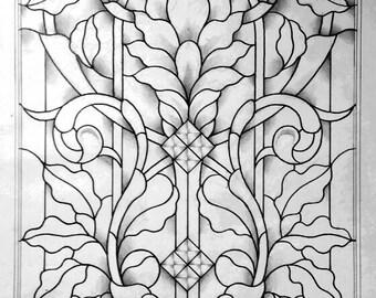 Art Nouveau Door Panel