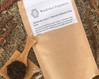 Into the wild- cacao and peppermint caffeinated scrub.