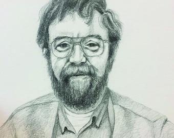 Custom Pencil Portrait: 8x10 inches / Bespoke Portrait / wall art / Bespoke drawing
