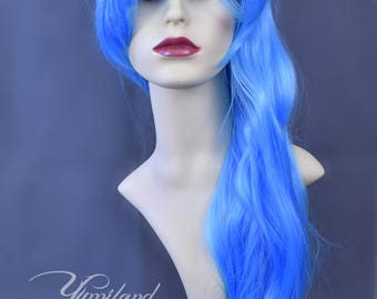 Blue Wig | Wavy Blue Wig | Curly Wig | Baby Blue Wig | Mermaid wig | Light Blue Wig | Long Wig with high quality synthetic hair