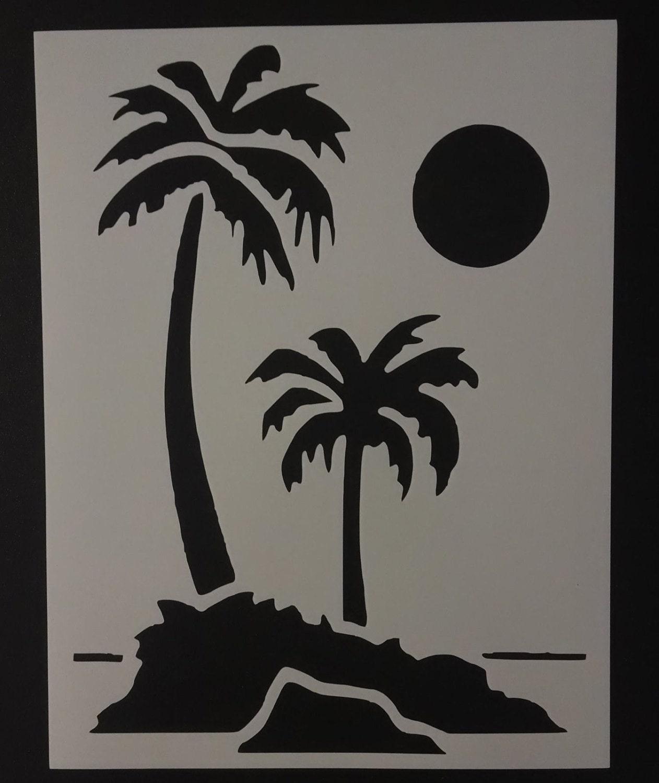 Palm Trees Tree Custom Stencil FAST FREE SHIPPING