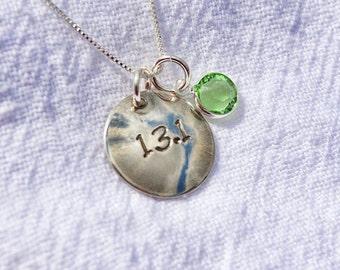 13.1 Half Marathon Small Circle Necklace