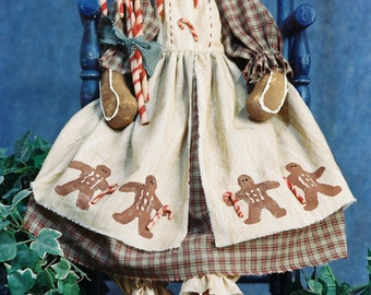 Candy - Cloth Doll E-Pattern 24in Holiday Gingerbread Doll epattern