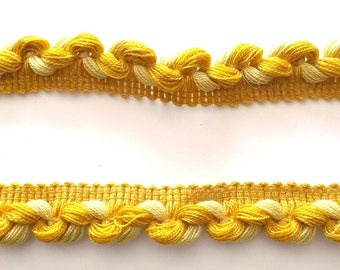 TRIM - 1 meter - braid Ochre yellow REF. 5