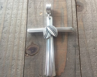 Silverware cross, silverware cross necklace, spoon cross, silverware cross pendant, spoon cross necklace, religious gift, confirmation gift