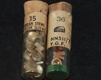 Destash Vials Watch Parts crowns Assemblage Industrial Altered Art Steampunk Charms IV 92
