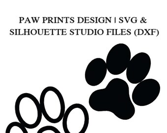 Paw Prints Files for Cutting Machines | SVG and Silhouette Studio (DXF)