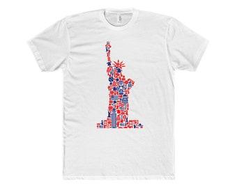 Liberty T Shirt MenS Cotton Crew Tee