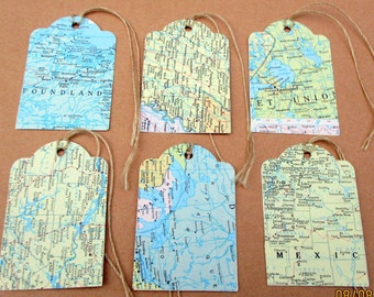 World map tag etsy best seller set of 25 map tags travel theme wedding bridal shower gumiabroncs