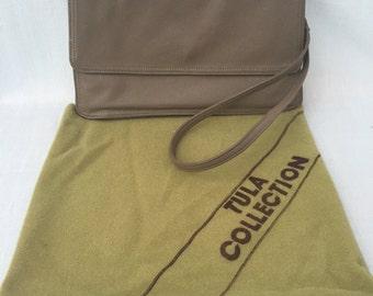 TULA Bags Vintage Super Quality Cocoa Genuine Leather Clutch Made in Korea Retro Bag