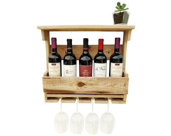 Reclaimed Wood Wine Rack - reclaimed wood wine holder wall wine bottle holder wine rack wall mounted wine box holder wall wine rack wood