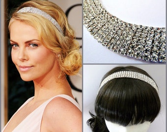 Celebrity Inspired Bridal Rhinestone Headband ,Bridal Rhinestone Headpiece, Wedding Crystal Headband, Bridal Headband, Wedding Headband