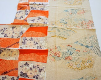 Vintage Japanese Silk Kimono Fabric | Patchwork Lot 137