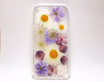 pressed flowers iphone 8 case