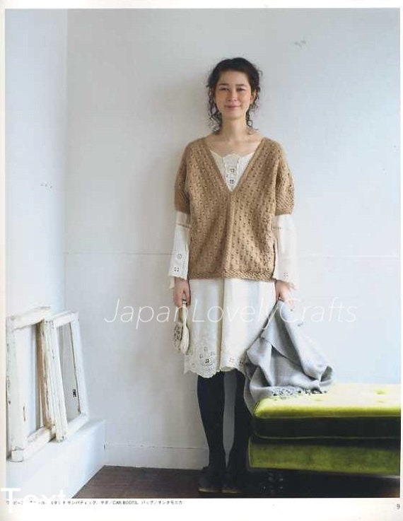 Easy Stylish Knit Pattern Japanese Knitting Crochet Book For