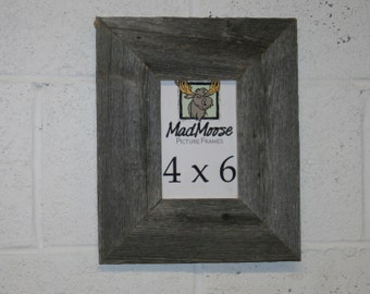 "4x6 Barn Wood [Thin x 3""] Picture Frame"