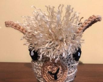 Handmade Lama/Alpaca Coffee Mug Cozy