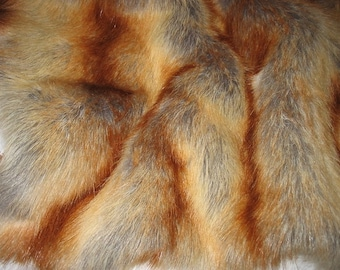 Luxurious Red Fox FAUX FUR fabric, Very Soft, sold by yard,