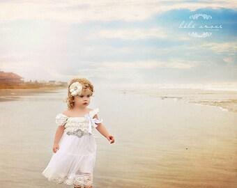 Flower Girl Dresses, Beach Flower Girl Dress, Country Flower Girl Dress, Flower Girl Dress, Cowboy Flower Girl Dress, Flower Girl Outfit